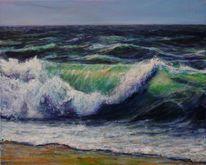 Küste, Meer, Brandung, Wasser