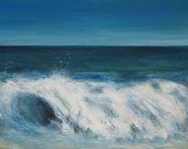 Landschaft, Meer, Wasser, Brandung
