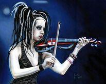 Musikerinnen, Geige, Cruxshadows, Rockmusik