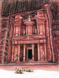 Tempel, Schatzhaus, Zeichnungen,