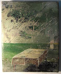 Tisch, Malerei, Landschaft
