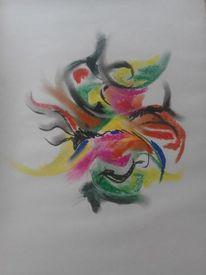 Bunt, Abstrakt, Pastellmalerei, Farben