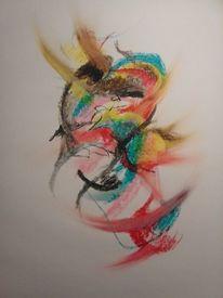 Pastellmalerei, Bunt, Farben, Abstrakt