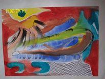 Aquarellmalerei, Intuition, Aquarell, Abstrakt