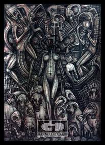 Zeichnen, Giger, Malerei, Böse