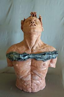 Mann skulptur, Heidelberg, Menschen, Keramik