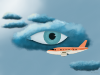 Digital, Surreal, Flugzeug, Digitale kunst