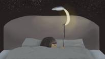 Abend, Digitales malen, Mond, Schlaf