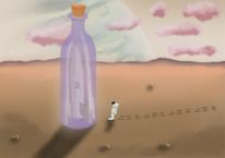 Alien, Digitale malerei, Affinityphoto, Flasche