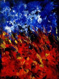 Kontrast, Acrylmalerei, Glühen, Flammen