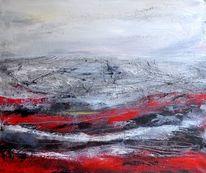 Grau, Landschaft, Struktur, Rot