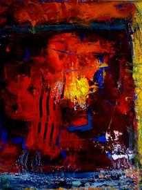 Acrylmalerei, Expressionismus, Experimentell, Kratzen