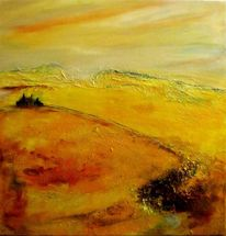 Sand, Landschaft, Struktur, Tuschmalerei