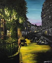 Rue, Frankreich paris montmartre, Malerei,