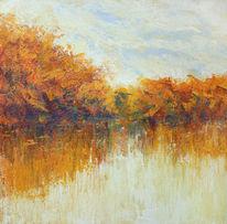 Spiegelung, Herbst, Baum, See