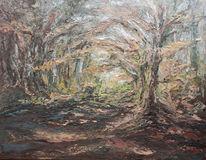 Waldweg, Baum, Lichtung, Herbstwald