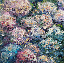 Garten, Sonne, Herbst, Hortensien