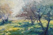 Sonne, Ölmalerei, Baum, Sainte