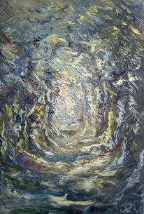 Waldweg, Baum, Herbst, Kühl