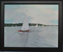 Segelboot, Wasser, Regatta, Malerei