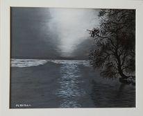 Wasser, Winter, Scharmützelsee, Malerei