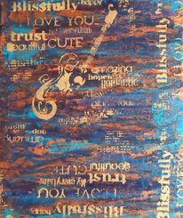 Schrift, Acrylmalerei, Gitarre, Malerei