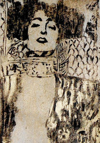 Acrylmalerei, Klimt, Malerei, Gewand