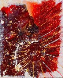 Malerei, Acrylmalerei, Feuer, Struktur