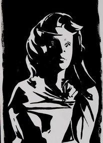 Acrylmalerei, Menschen, Schatten, Malerei
