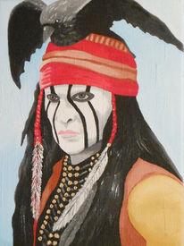 Indianer, Malerei, Acrylmalerei