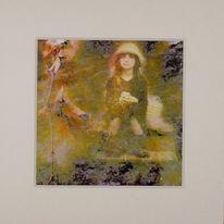 Malerei, Erinnerung, Collage, Mischtechnik