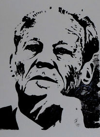Willy brandt, Malerei, Politik, Acrylmalerei