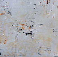 Abstrakt, Weiß, Spachteltechnik, Malerei
