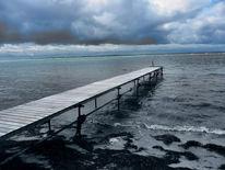 Meer, Wolken, Strand, Weite