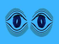 Augen, Wimpern, Mutter, Blau