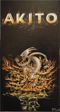 Rauch, Feuer, Buchstaben, Teufel