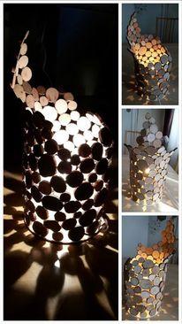 Holz, Scheibe, Rund, Lampe