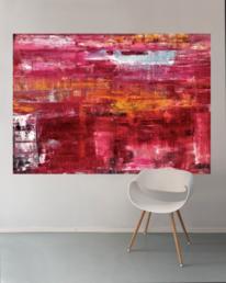 Flur, Rot, Sofa, Moderne kunst