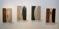 Granit, Elemente, Messing lindenhoz, Wandplastik