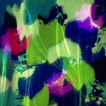 Grün, Natur, Dunkelblau, Abstrakt