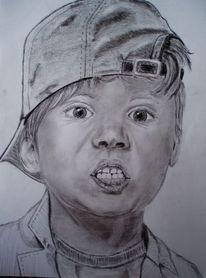 Junge, Portrait, Erstaunen, Gesicht