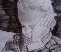 Gedanken, Gesicht, Kind, Portrait