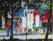 Kaiserplatz in bonn, Gebäude, Frankreich, Malerei