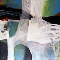 Überlagerung, Malerei, Malerei und fotografie, Holzdruck