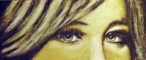 Lippen, Weiß, Augen, Frau
