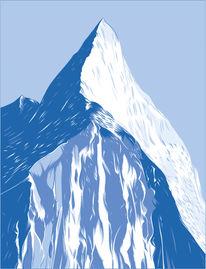 Gipfel, Schnee, Ausblick, Berge