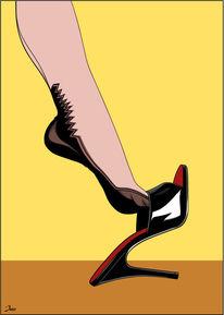Leichtigkeit, Gefühl, Schuhe, Illustrationen