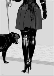 Outfit, Hund, Illustrationen,