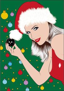 Schatz, Kugel, Weihnachten, Illustrationen