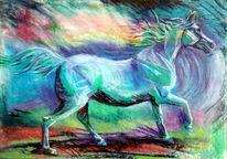 Arabisches vollblut, Schimmel, Pferde, Stute
